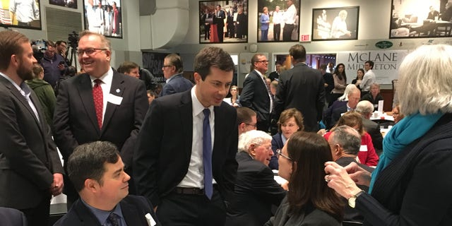Pete Buttigieg on Friday highlighted his push to add justices to the Supreme Court and scrapthe Electoral College in presidential elections, as he campaigned in the state that holds the first primary in the race for the White House. (Paul Steinhauser/Fox News)