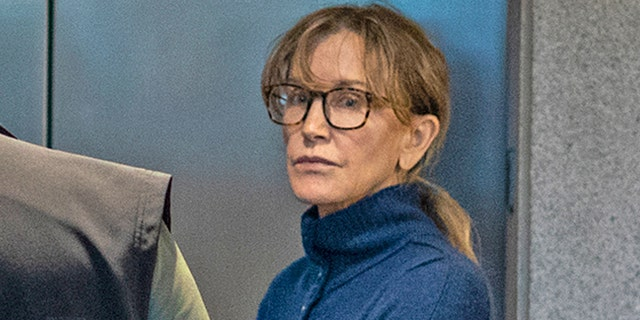 Felicity Huffman is seen inside the Edward R. Roybal Federal Building and U.S. Courthouse in Los Angeles, on March 12, 2019.