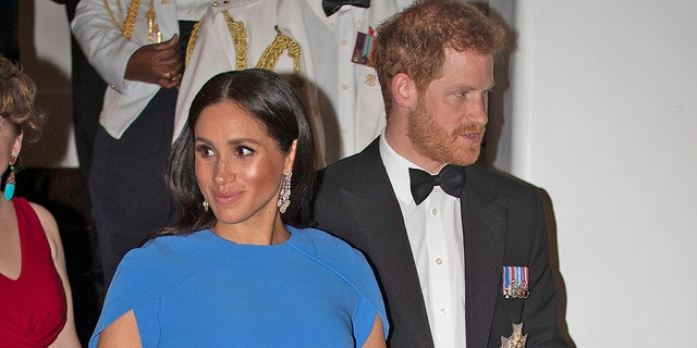 Meghan Markle and Prince Harry in Fiji in Oct 2018