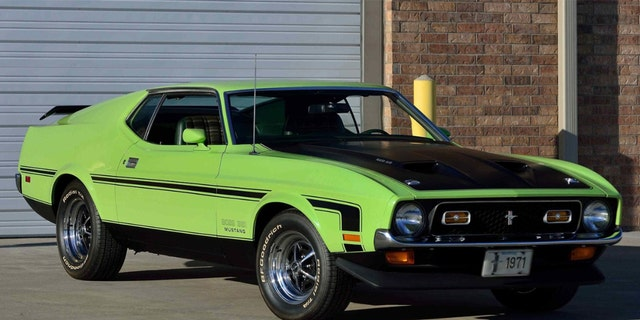 This 1971 Grabber Lime Mustang Boss 351 sole during a Mecum Auction for $87,500