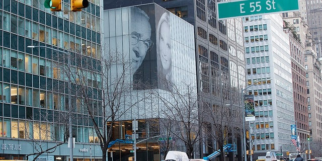 Harry Macklowe's billboard is on display on Park Avenue and 56th Street.