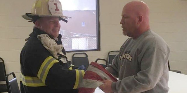 Hopewell Fire Chief Donny Hunter said Sunday they were touched when they returned the flag to the governor of the lodge