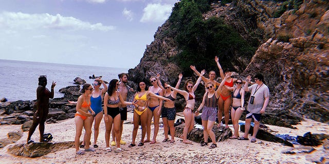 A group of British teens are reliving the traumatic experience of being stranded on a small island ridden with snakes and jellyfish during a recent vacation to Thailand.