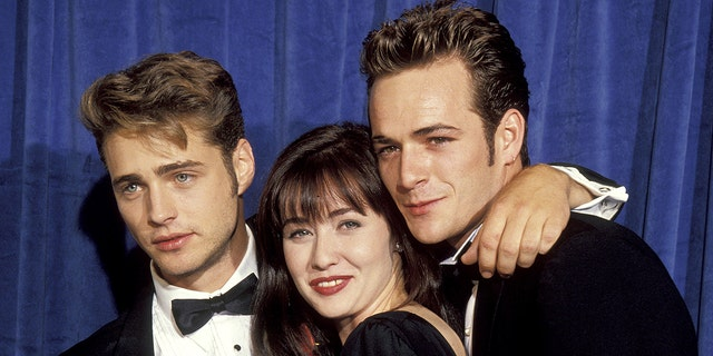 Jason Priestley, Shannen Doherty and Luke Perry (Photo by Jim Smeal/WireImage)