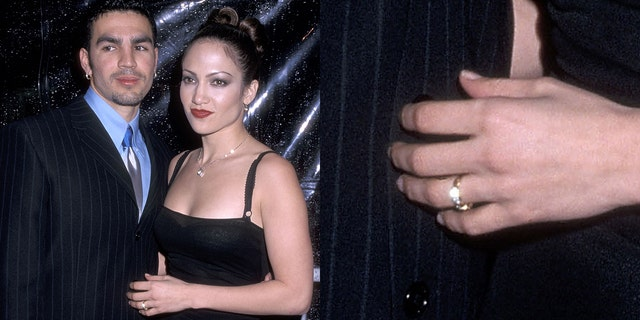 Jennifer Lopez and then-husband Ojani Noa during a Conga Room Grand Opening Celebration on Feb 23, 1998 during The Conga Room in Los Angeles, California.