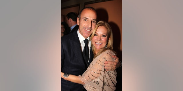 "File - Matt Lauer and Kathie Lee Gifford attend the opening night of ""Scandalous"" on Broadway at the Neil Simon Theatre on November 15, 2012 in New York City."