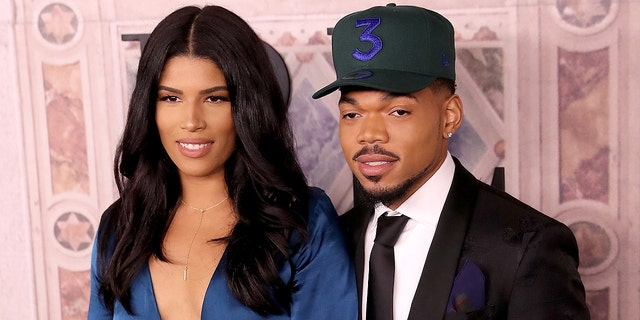 Chance the Rapper and fiancee Kirsten Corley.