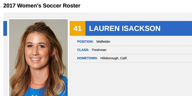 Lauren Isackson supposedly played midfielder for UCLA.
