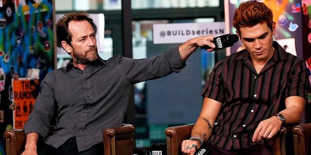 Luke Perry and K.J. Apa in October 2018