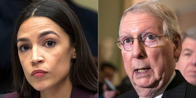 Progressive Rep. Alexandria Ocasio-Cortez spoke out on Tuesday ahead of the Senate vote on her Green New Deal and slammed Majority Leader Mitch McConnell for rushing the bill in what many have called an attempt to divide Democrats