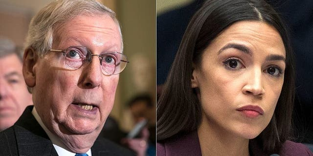 Progressive Rep. Alexandria Ocasio-Cortez spoke out on Tuesday ahead of the Senate vote on her Green New Deal and slammed Majority Leader Mitch McConnell for rushing the bill in what many have called an attempt to divide Democrats.