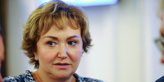 S7 Group co-owner Natalia Fileva, seen here in July 2018, died in a small plane crash in Germany, the Russian airline operator said Sunday. (Valery Titievsky/Kommersant Photo via AP, File)