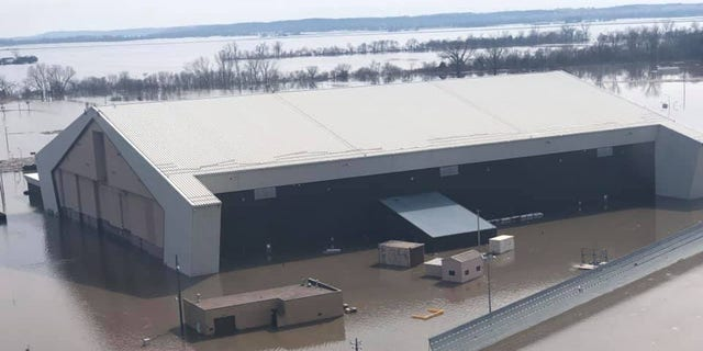 About 60 buildings, mostly on the south side of Offutt Air Force Base, have been damaged by floodwaters.