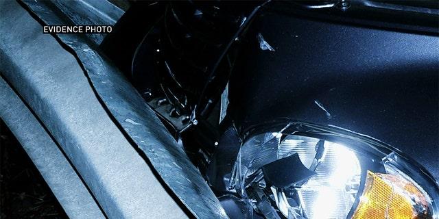 Accident scene photo of Betty Schirmer's car crash. — Oxygen