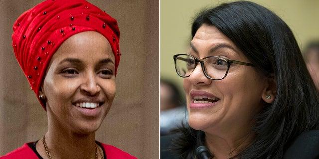 Democratic Reps. Ilhan Omar, D-Minn., and Rashida Tlaib of Michigan