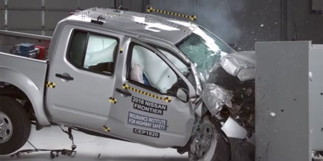 The Nissan Frontier earned a Poor score on the passenger side small overlap test.