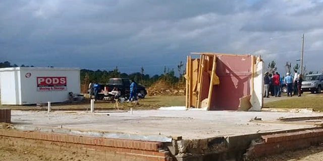 An Alabama grandmother's prayer closet remained standing after deadly tornadoes ravaged the Lee County community.