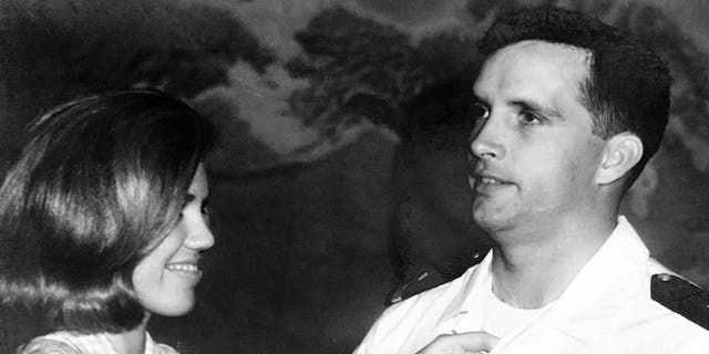 """Lt. Richard """"Tito"""" Lannom and his wife."""