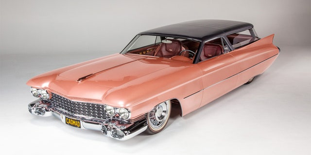 """The Ridler award-winning """"Cadmad"""" mixes a Cadilac Brougham with a Chevy Nomad."""