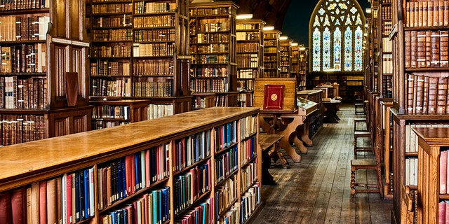 The Ushaw College Library is seen in this image from Durham University.