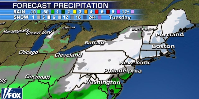 A winter storm is expected to bring the Northeast the largest amount of snow so far this season.