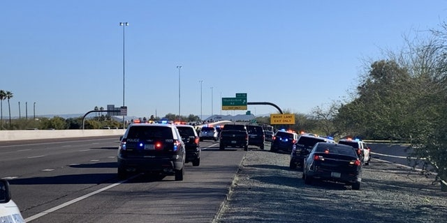 According to the Arizona Department of Public Safety, police responded to a call at 6:56 a.m. that a white Lexus sedan going northbound had crashed after veering off Loop 101 near the Thunderbird Road off-ramp.