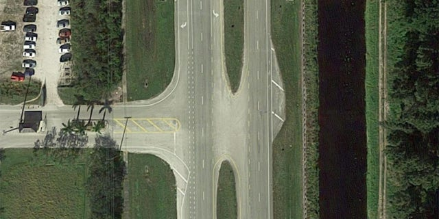 The Delray Beach intersection where the accident occurred.