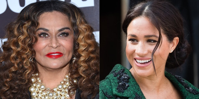 Tina Knowles-Lawson and Meghan Markle, Duchess of Sussex