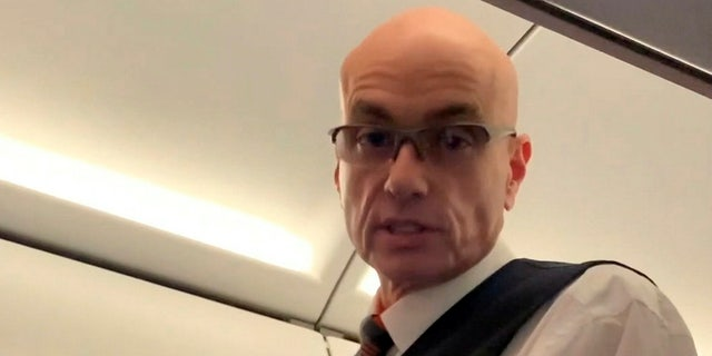 Video footage of the air cabin crew member that Kayani claims burst in on him on the toilet on an Easyjet flight from Marrakesh to Manchester.