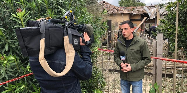 Trey Yingst reporting on the scene. During one of his most active live hits, mortars and anti-tank missiles fired nearby. Moments later, another barrage of rockets was fired from Gaza into Israel.