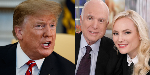 President Trump has feuded with both Sen. John McCain, who died last year, and with his daughter Meghan McCain.