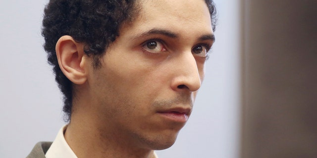 Tyler Barriss, of California, appears for a preliminary hearing in Wichita, Kan., May 22, 2018. Barriss pleaded guilty to 51 charges related to fake emergency calls and threats. (Associated Press)