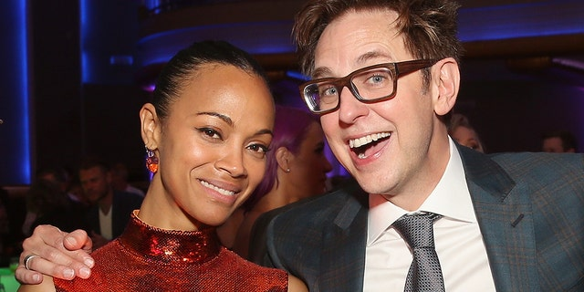 Zoe Saldana and James Gunn