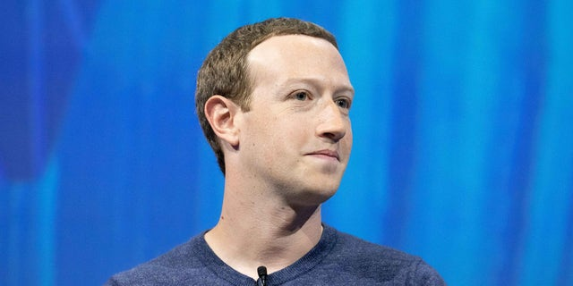Mark Zuckerberg, chief executive officer and founder of Facebook, attends the Viva Tech start-up and technology gathering at Parc des Expositions Porte de Versailles on May 24, 2018, in Paris.