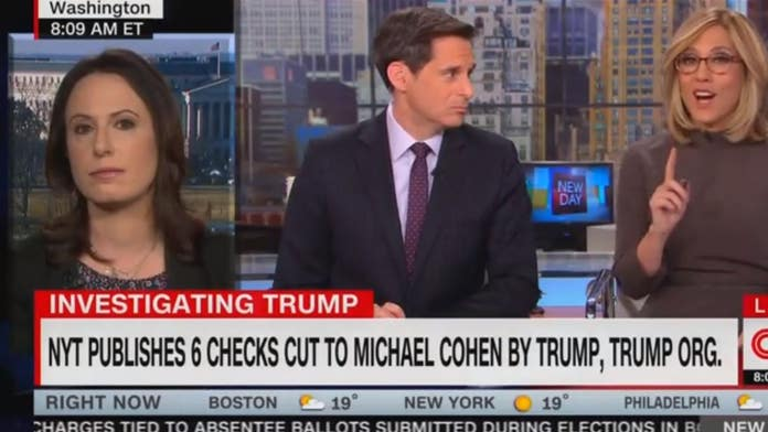 New York Times reporter clashes with CNN anchor over Trump check story