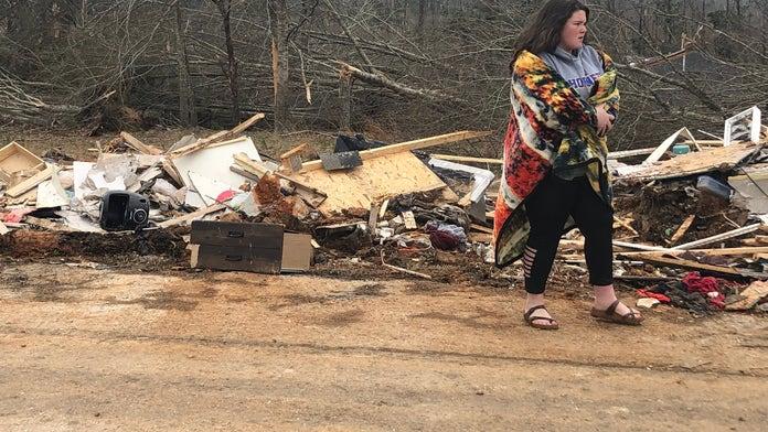 Alabama tornado survivors recover belongings and share their close calls