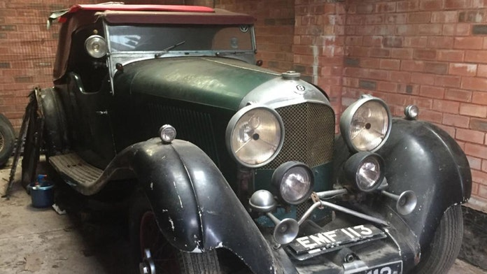 Car left in garage 31 years by pilot who helped bomb Hitler's 'Eagles Nest' sold for small fortune