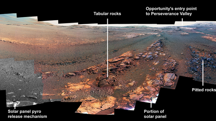 Here's what NASA's Opportunity rover saw before 'lights out'