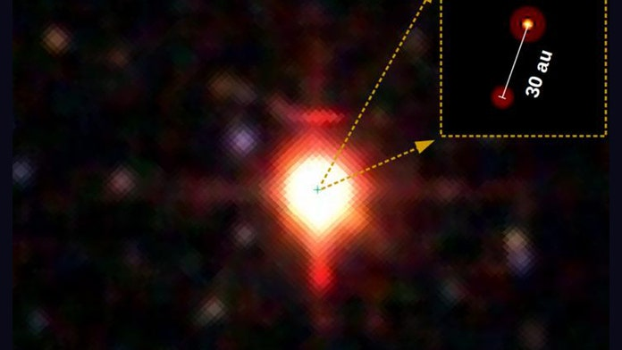 Why are these massive, baby stars orbiting so close together?