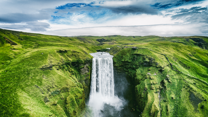 Waterfalls can spring from rivers spontaneously