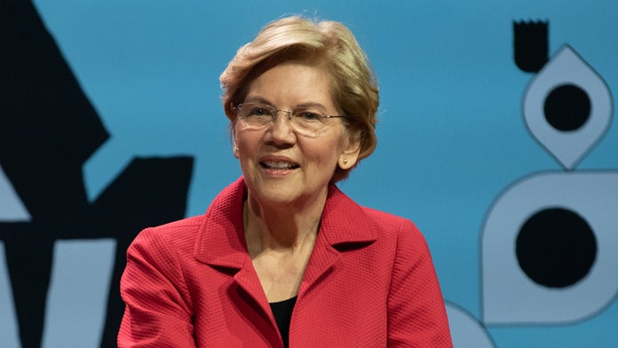 Elizabeth Warren sprints to catch New York City train in viral video: 'Try and keep up'