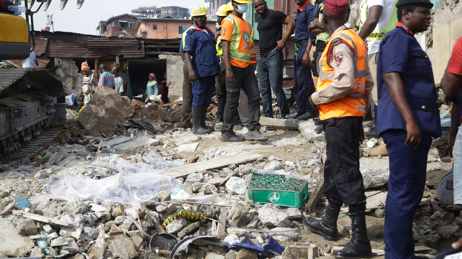 Fears for children caught in Nigerian school building collapse