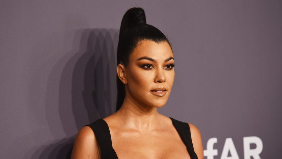 Kourtney Kardashian flaunts curves in nude bikini poolside snap