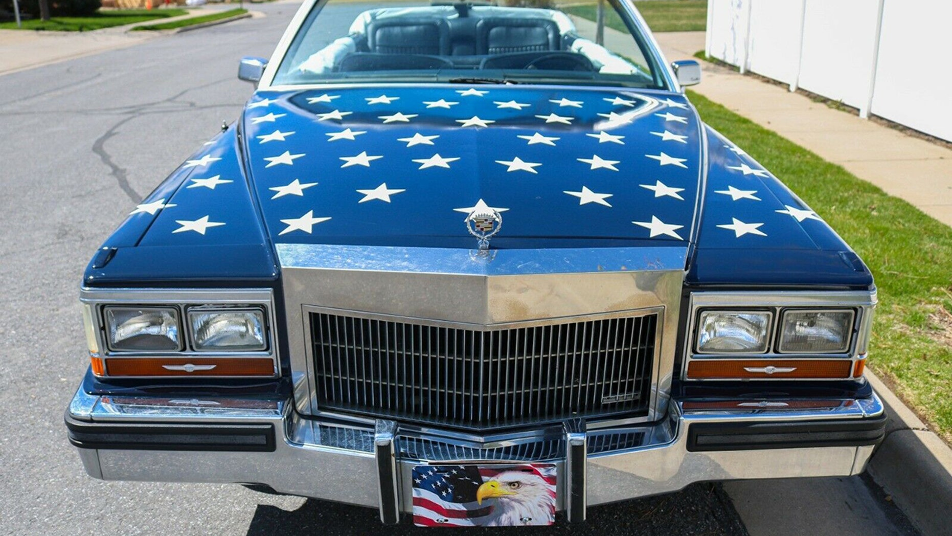 The American Flag Painted Cadillac Limousine
