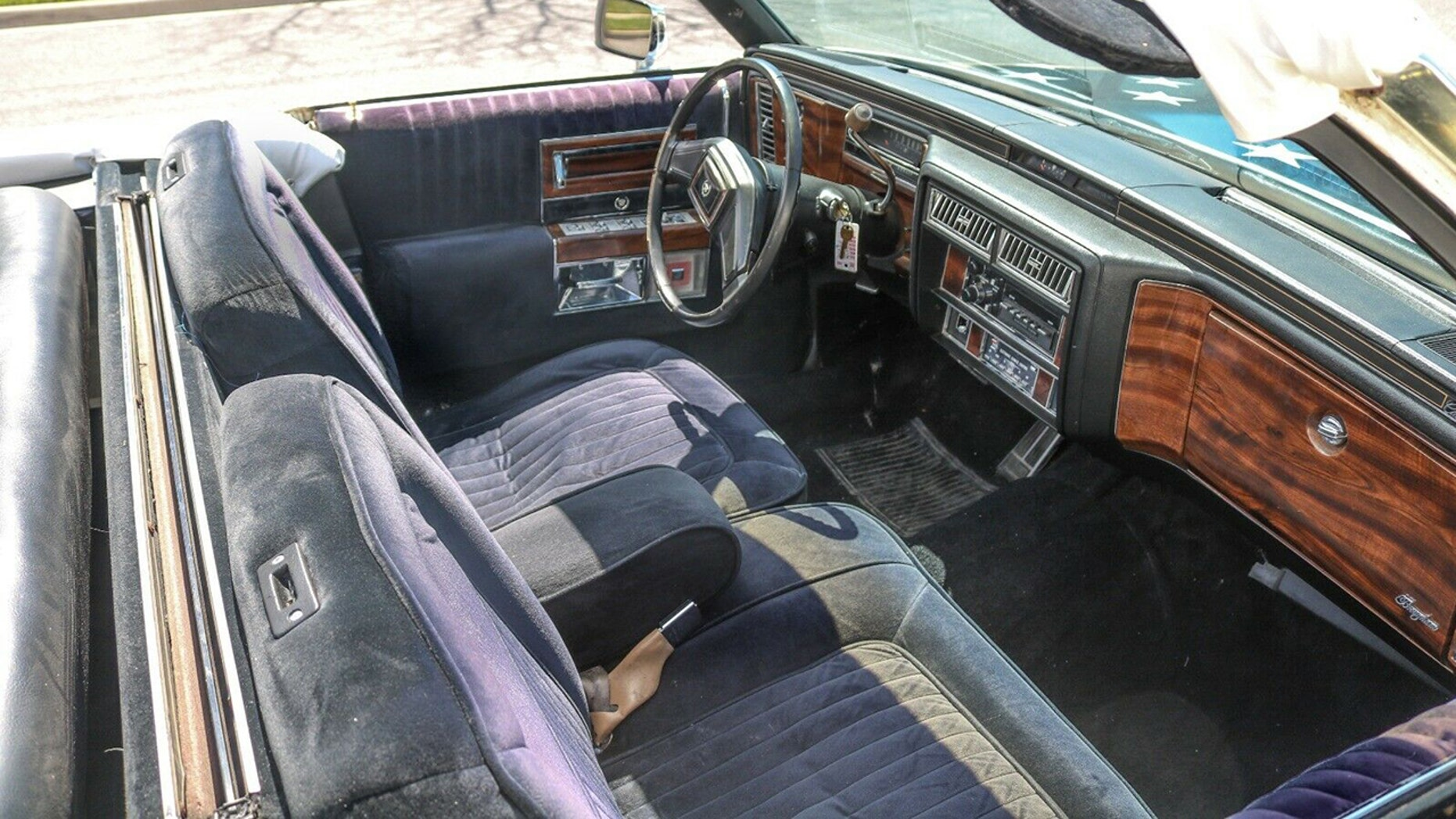The American Flag Painted Cadillac Limousine interior
