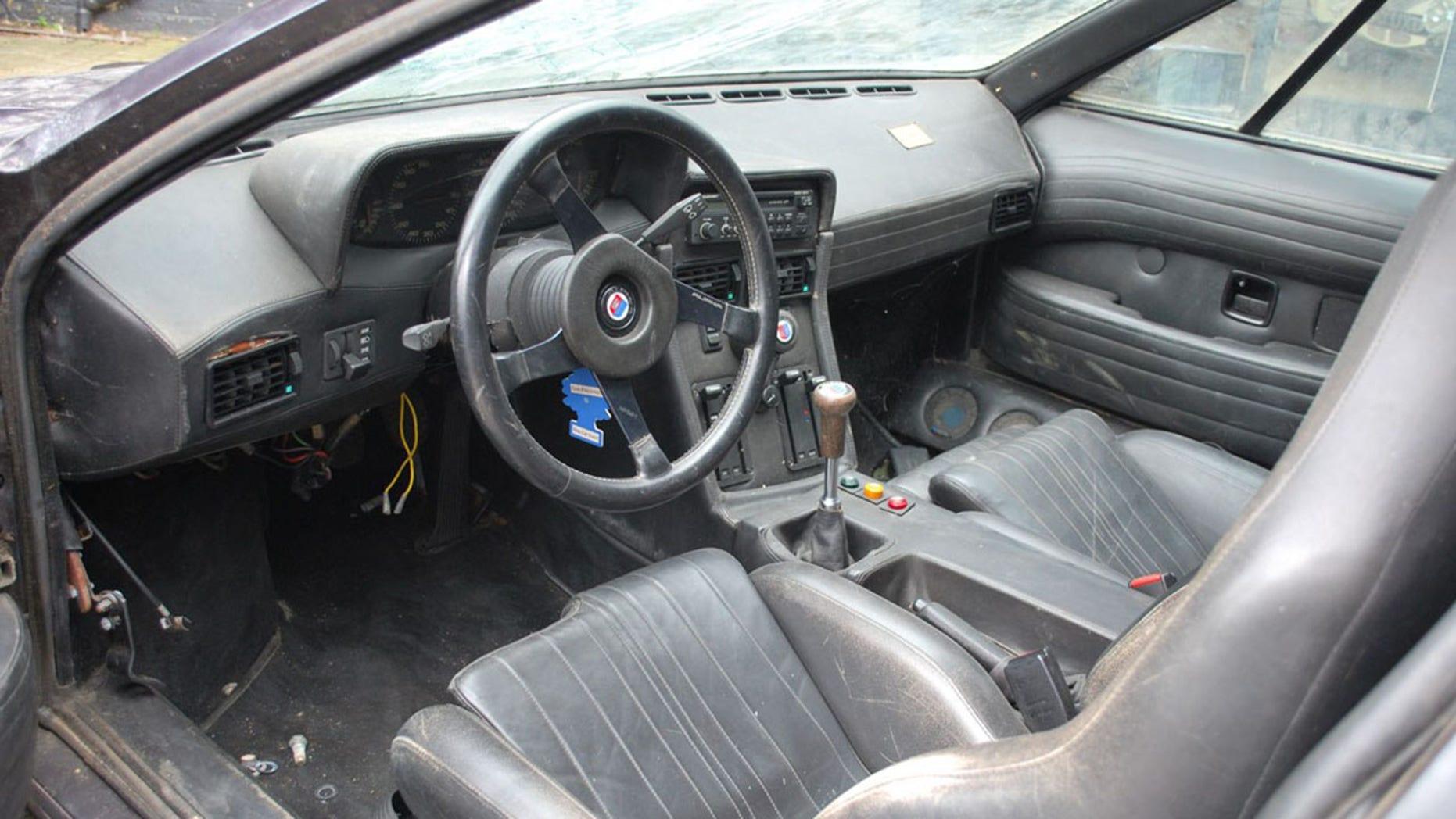 Legendary Lost BMW M1 interior