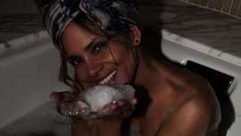 Halley Berry stuns with bubble bath pic on 'Self Care Sunday'
