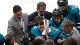 GRAPHIC VIDEO: Cross check knocks San Jose's Joe Pavelski to the ice during Sharks' OT win over Vegas