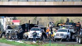 The Latest: 4 dead in fiery pileup on I-70 near Denver