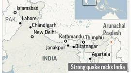 Shallow quake shakes northeast India, no damage yet reported